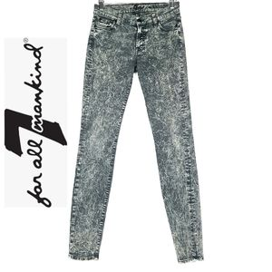 7 For All Mankind The Skinny Grey Marble Wash 27